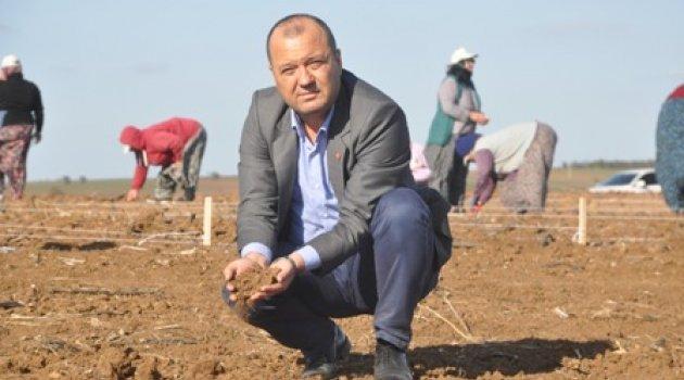 CHP'Lİ AYGUN ''DÜNYA ÇİFTÇİLER GÜNÜ'NDE ÇİFTÇİ BORÇ BATAĞINDA''